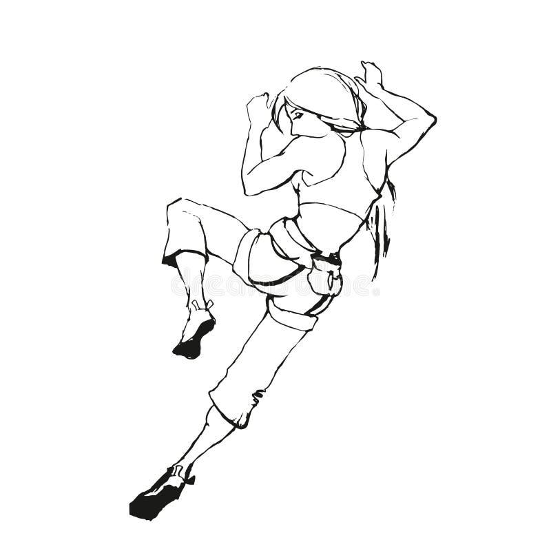 Kletterndes Mädchen lizenzfreies stockfoto
