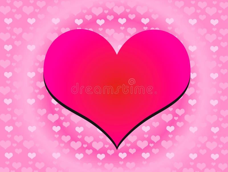 Kleur 01 van het hart royalty-vrije illustratie