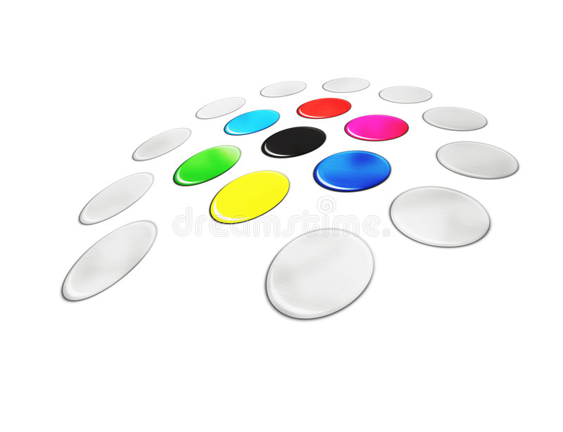 Kleur stock illustratie