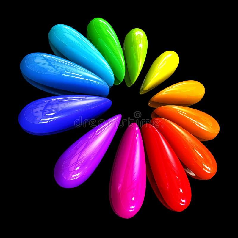 Kleur dalingen stock illustratie