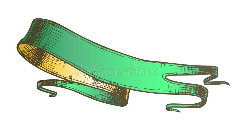 Kleur die de Lege Vector van de Lint Middeleeuwse Stijl adverteren royalty-vrije illustratie