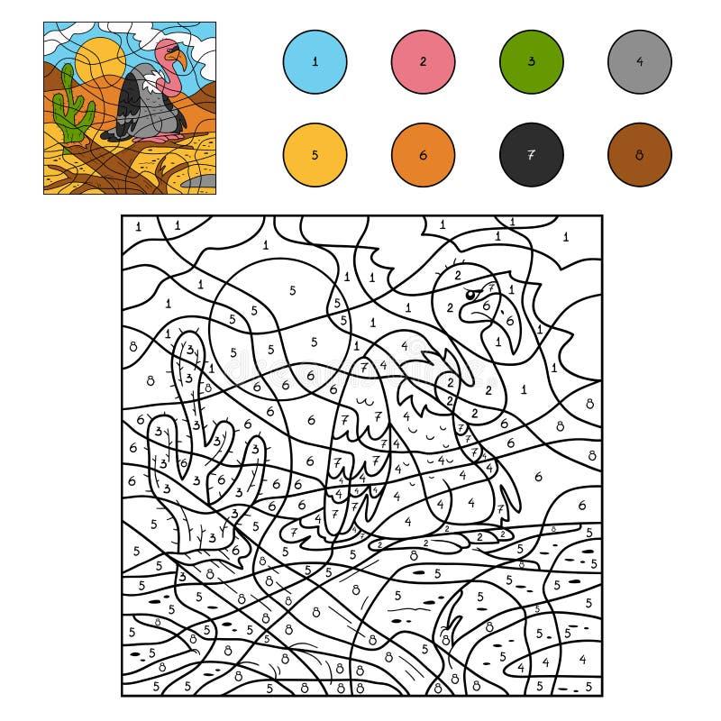 Kleur door aantal (gier) royalty-vrije illustratie