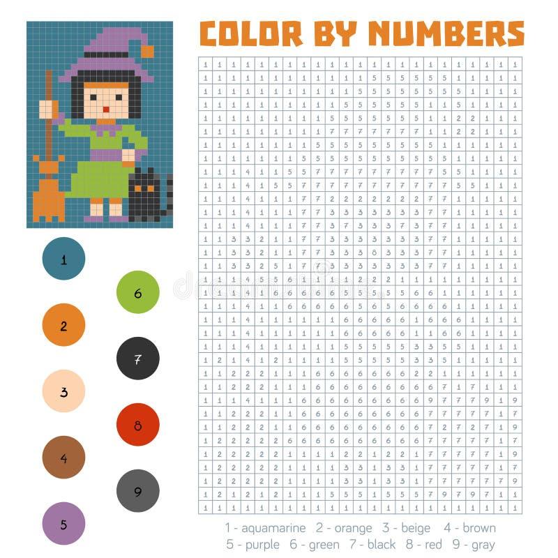 Kleur door aantal, Heks royalty-vrije illustratie