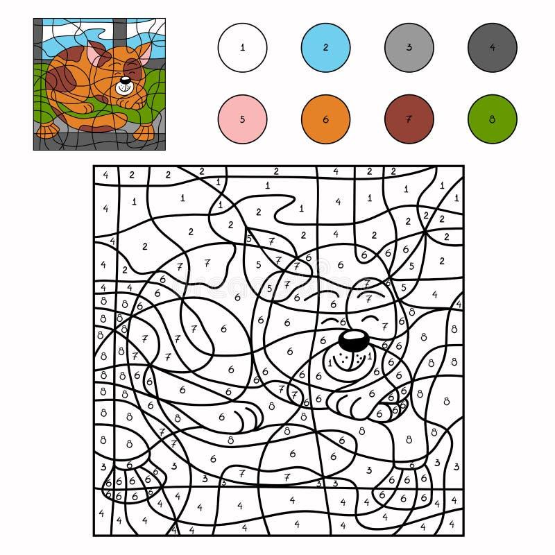 Kleur door aantal (kat) royalty-vrije illustratie