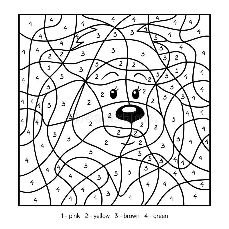 Kleur door aantal, leeuw vector illustratie