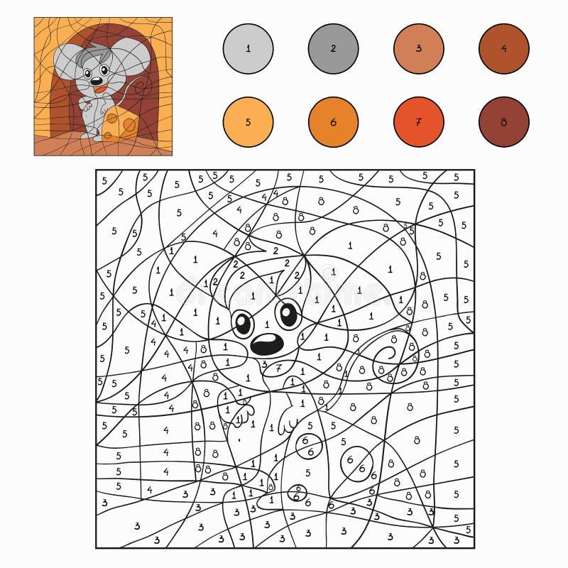 Kleur door aantal (muis) royalty-vrije illustratie