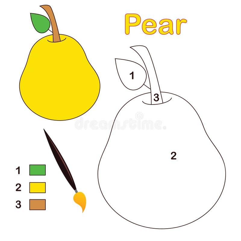 Kleur door aantal: peer royalty-vrije illustratie
