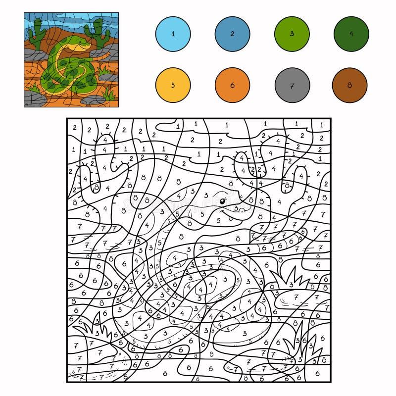 Kleur door aantal (slang) stock illustratie