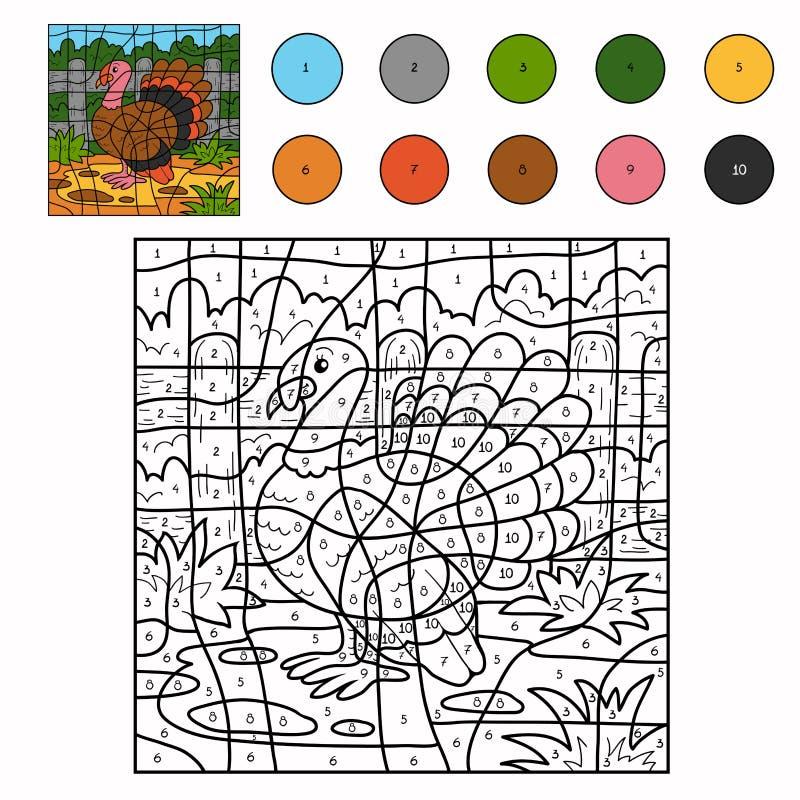 Kleur door aantal (Turkije) stock illustratie