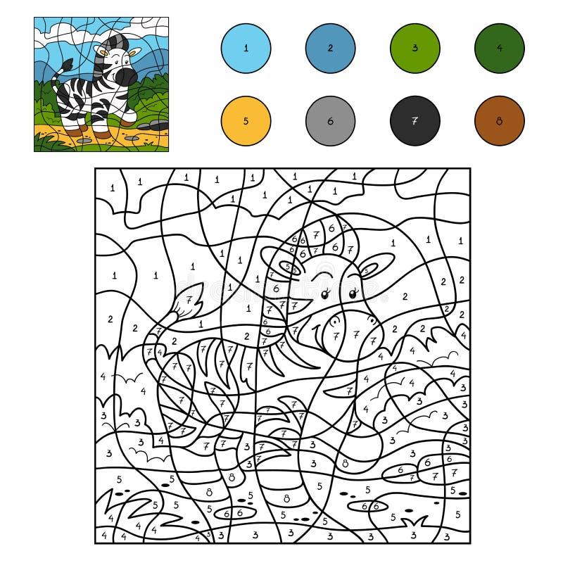 Kleur door (gestreept) aantal stock illustratie