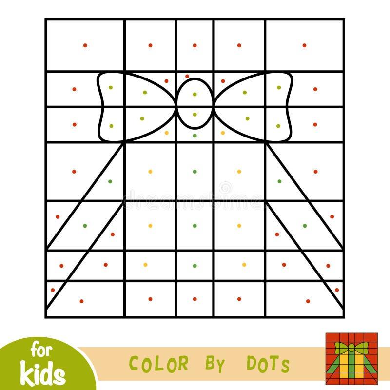 Kleur door punten, spel voor kinderen, Gift royalty-vrije illustratie