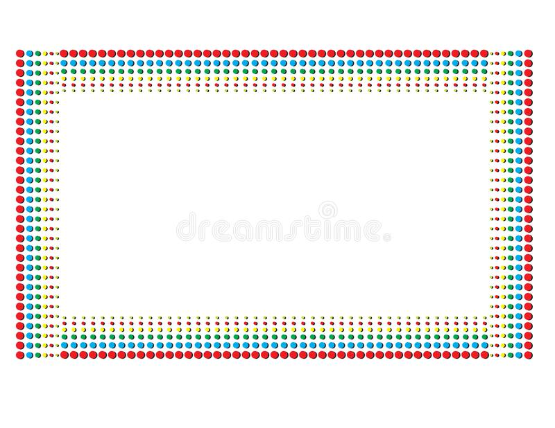 Kleur Dot Pattern stock foto's