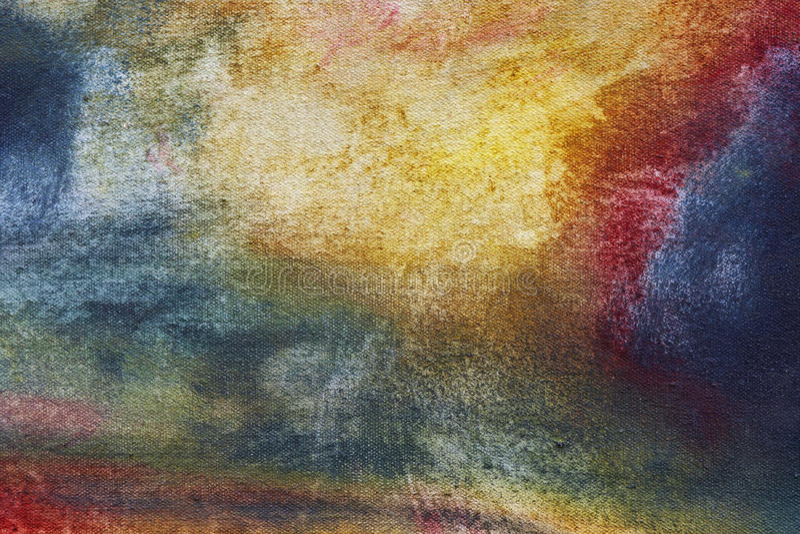 Kleur-geschilderd canvas royalty-vrije stock afbeeldingen
