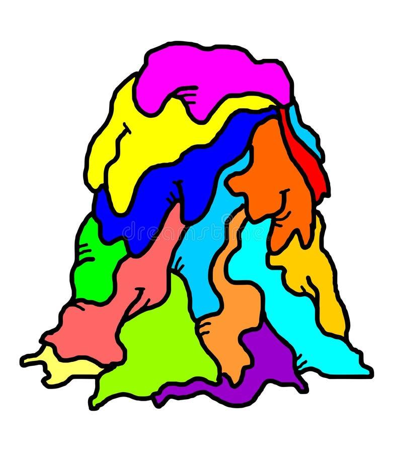 Kleur gesmolten cijfer vector illustratie