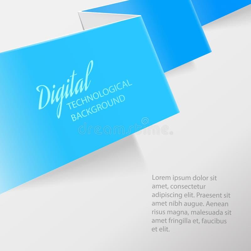 Kleur gevouwen document stock illustratie
