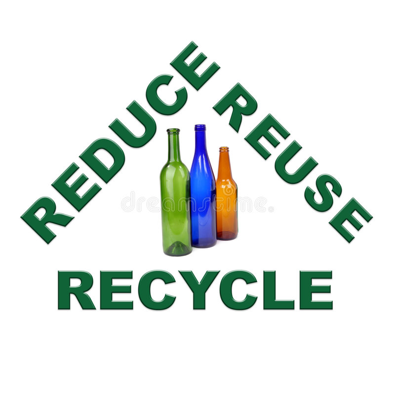 Kleur glas recycling stock illustratie