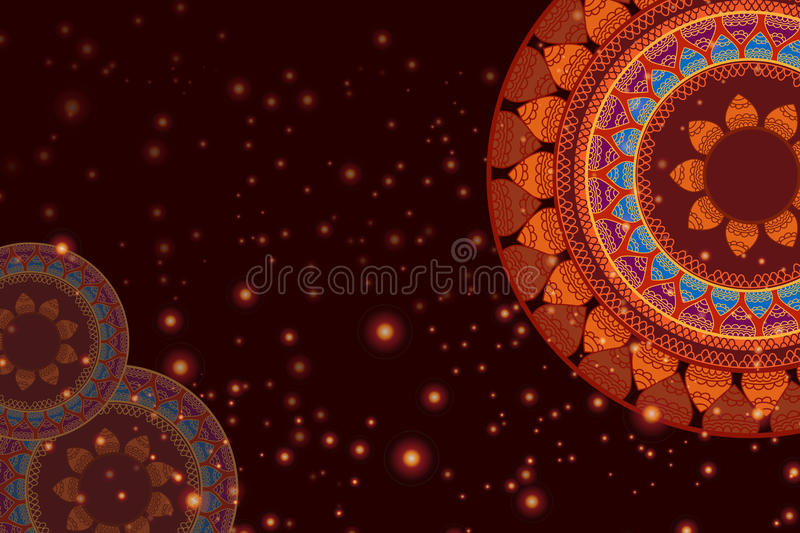 Kleur Henna Mandala Background stock illustratie