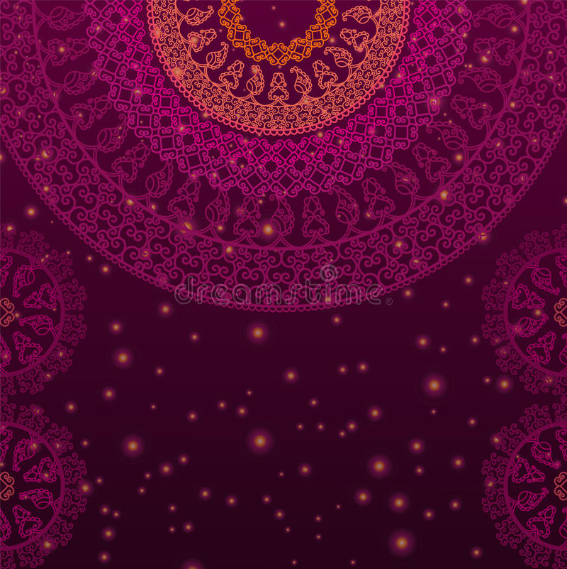 Kleur Henna Mandala Background vector illustratie