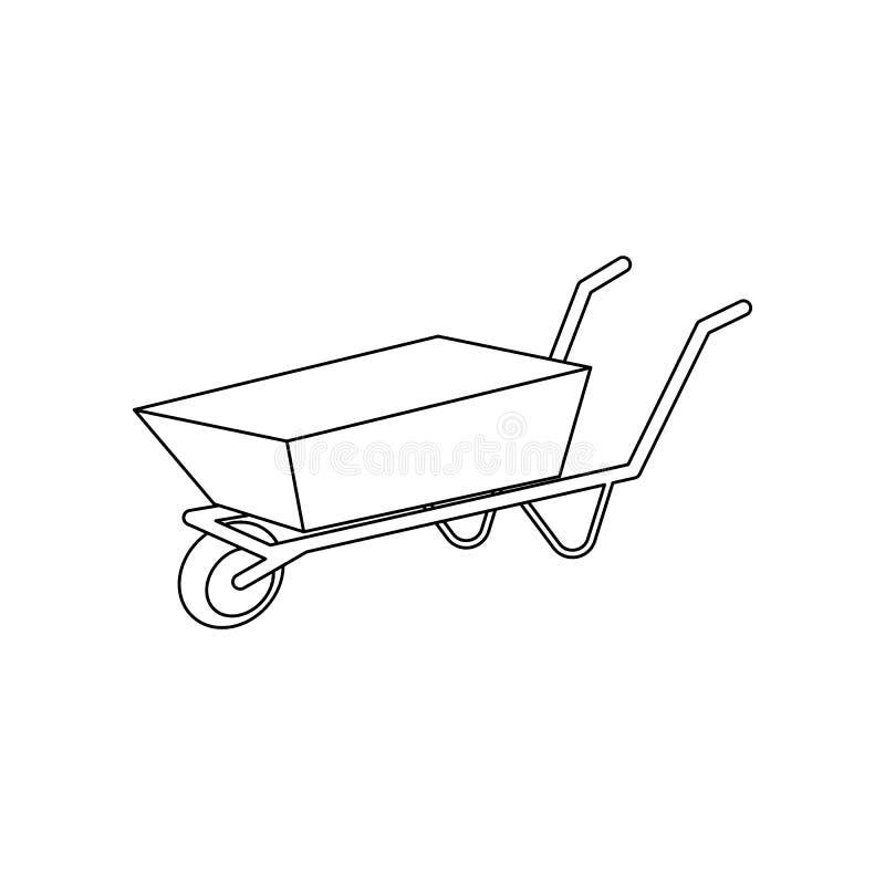kleur het pictogram van het de bouwkarretje Element van bouwhulpmiddelen voor mobiel concept en webtoepassingenpictogram Overzich stock illustratie