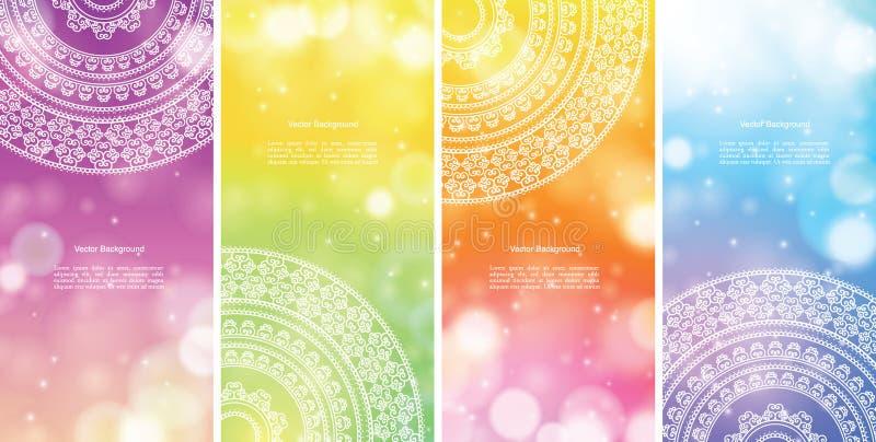 Kleur Mandala Banners vector illustratie