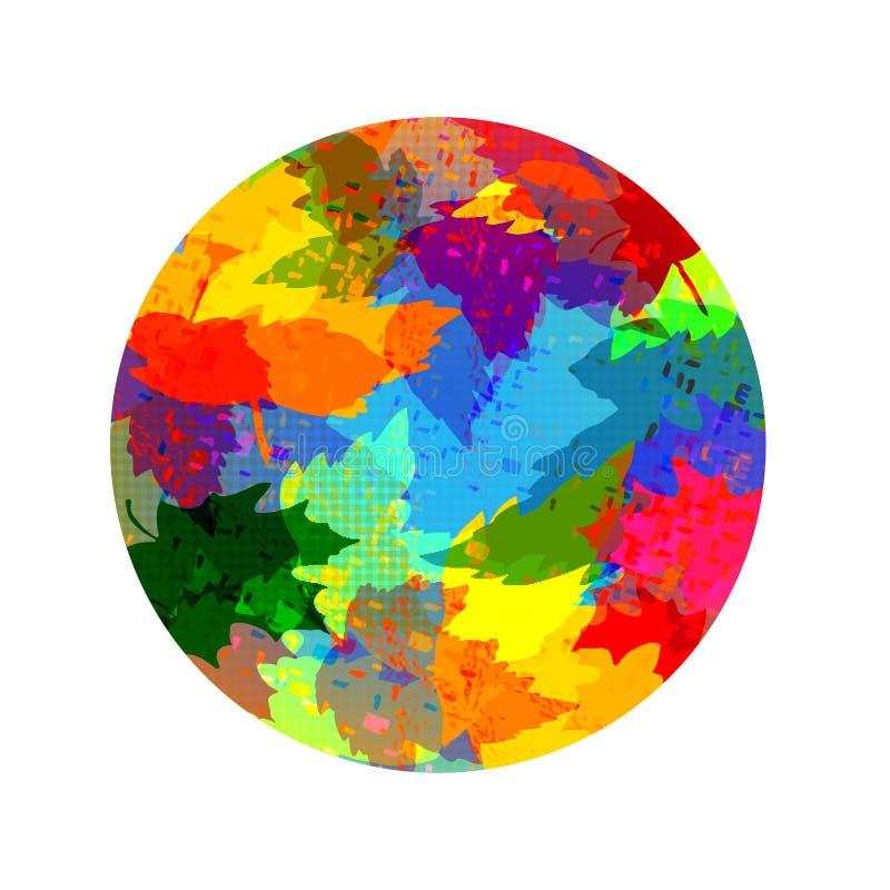 Kleur om abstracte achtergrond royalty-vrije illustratie