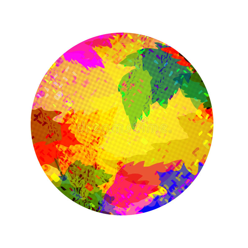 Kleur om abstracte achtergrond stock illustratie