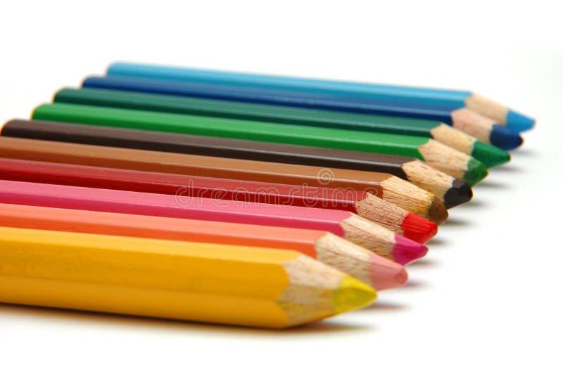 Kleur Pencils2 stock foto's