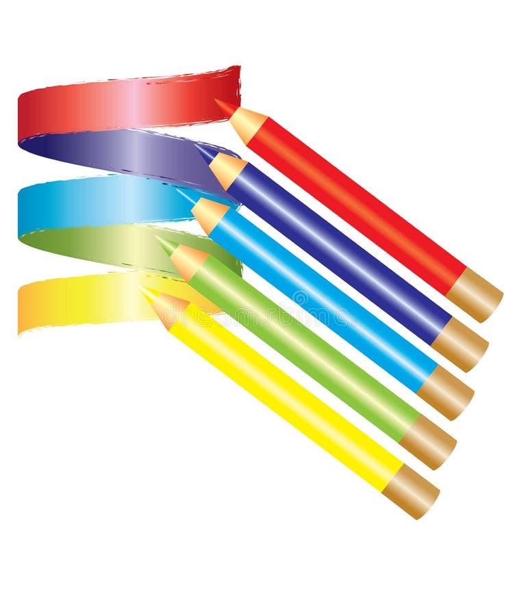 Kleur potlood vector illustratie