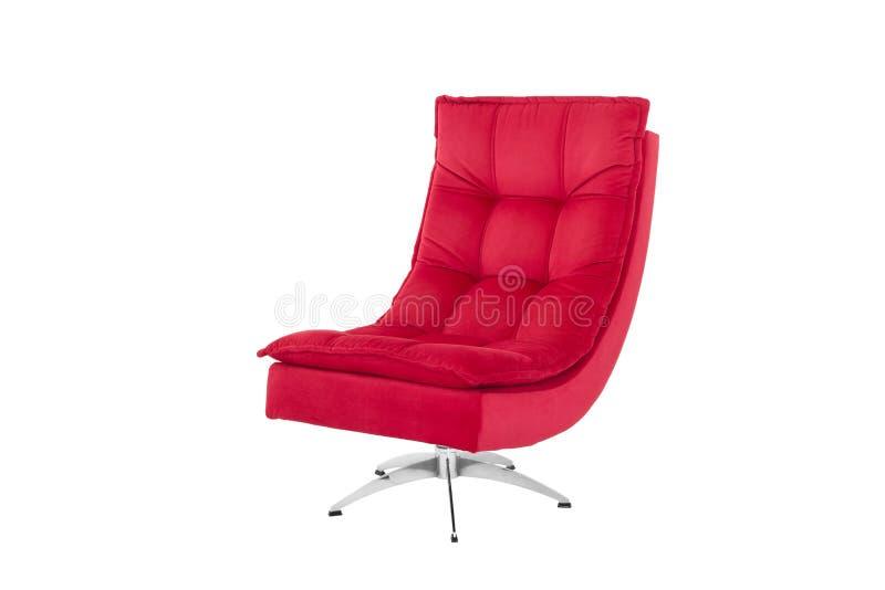 De Kleur Rood : Kleur rood die sofa armchair op witte achtergrond wordt geïsoleerd