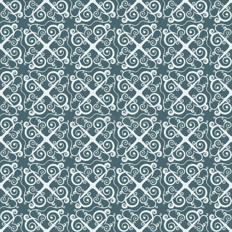 Kleur twee die ornament in etnische stijl herhalen Uitstekend naadloos patroon royalty-vrije illustratie