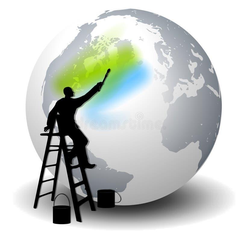 Kleur Uw Wereld stock illustratie