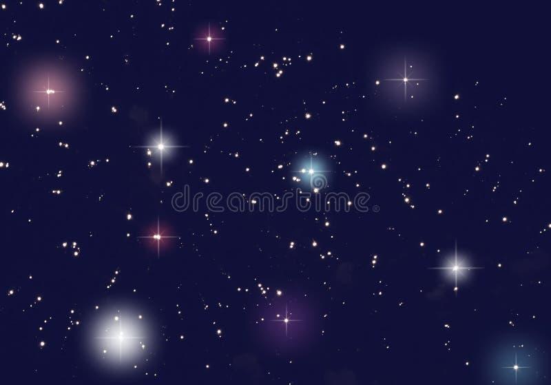 Kleur van het heelal dat met sterren wordt gevuld stock foto's