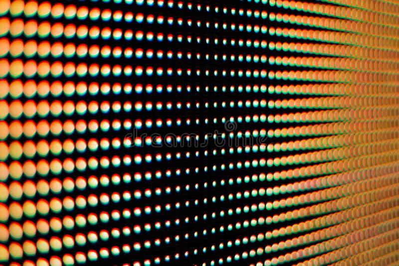 Kleur van het licht van het geleide scherm royalty-vrije stock afbeeldingen