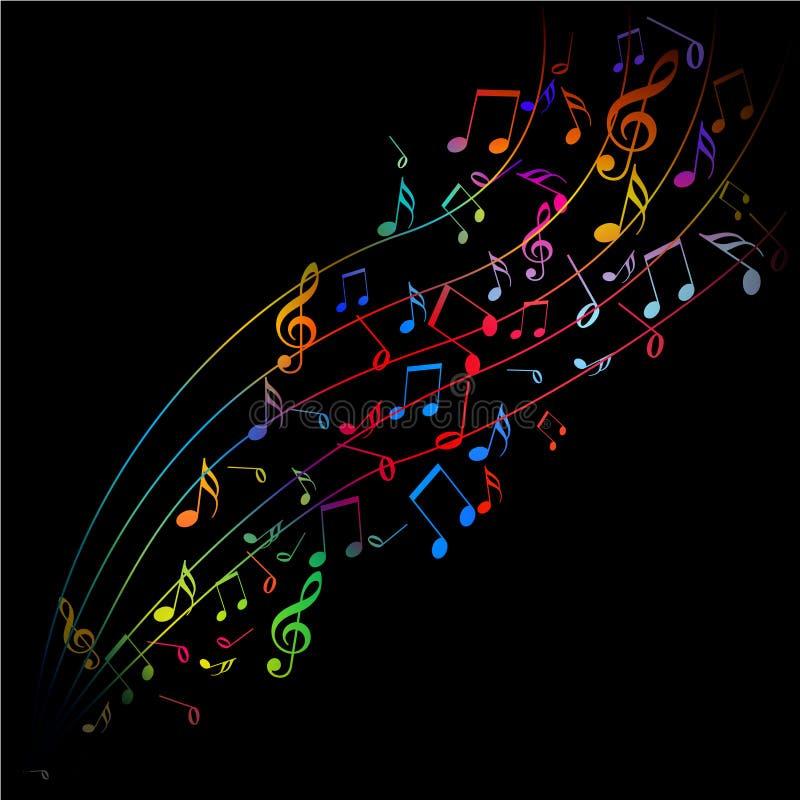 Kleur van muziek en lied royalty-vrije illustratie