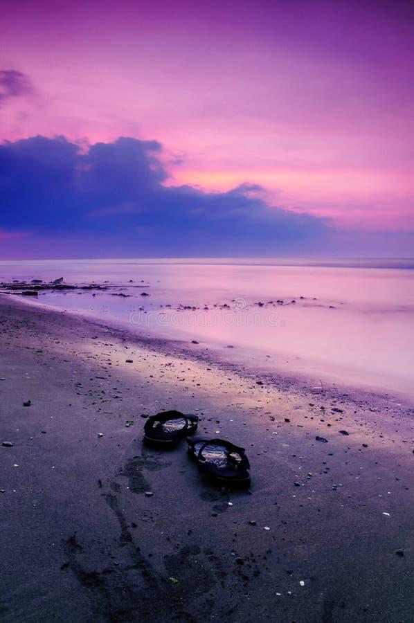 Kleur van zonsondergang stock afbeeldingen