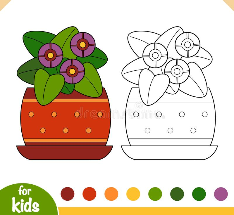 Kleurboek, Viola-plant royalty-vrije illustratie