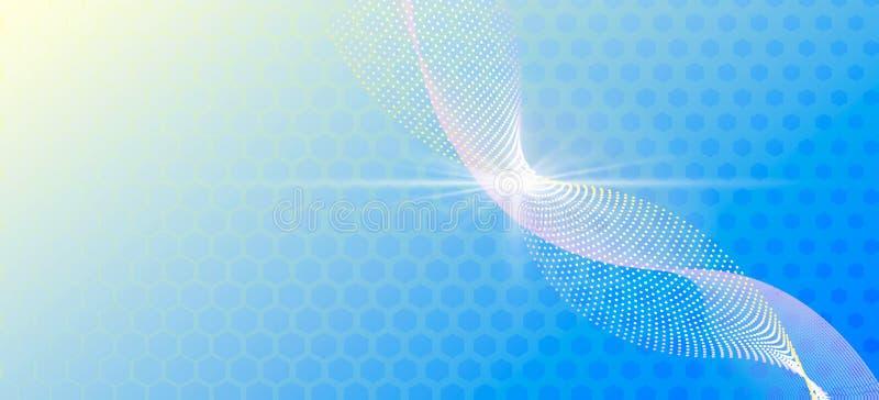 Kleuren abstract malplaatje voor een kaart of een banner Blauwe achtergrond met netwerkvorm stock illustratie