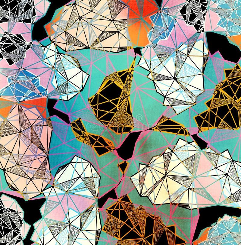 Kleuren abstracte heldere achtergrond royalty-vrije illustratie