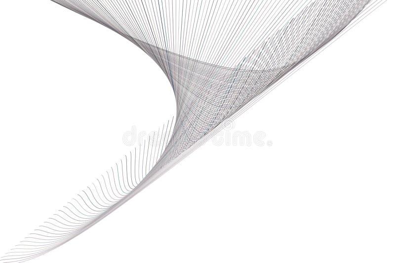 Kleuren abstracte lijn & generatieve de kunstachtergrond van het kromme geometrische patroon Web, malplaatje, oppervlakte & vecto vector illustratie