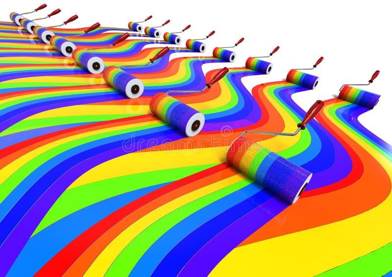 Kleuren Achtergrondconcept vector illustratie
