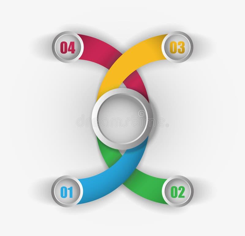 Kleuren bedrijfsinfographicsmalplaatje vector illustratie