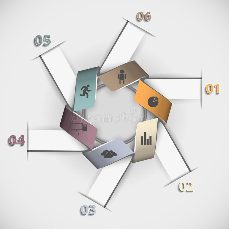 Kleuren bedrijfsinfographicsmalplaatje voor uw presentatie vector illustratie