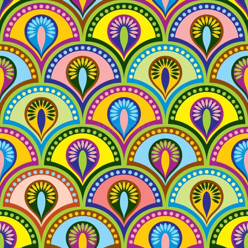 Kleuren Boeddhistische seamles royalty-vrije illustratie