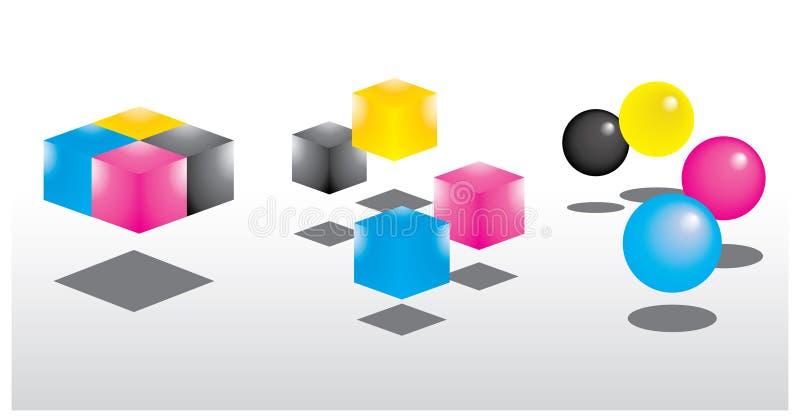 Kleuren CMYK vector illustratie