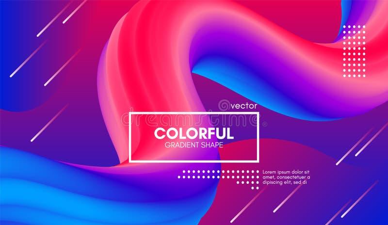 In Kleuren 3d Achtergrond Golf Vloeibare Vorm vector illustratie