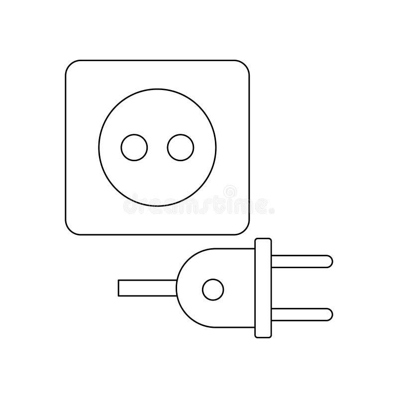 kleuren elektrisch stop en contactdoospictogram Element van bouwhulpmiddelen voor mobiel concept en webtoepassingenpictogram Over vector illustratie