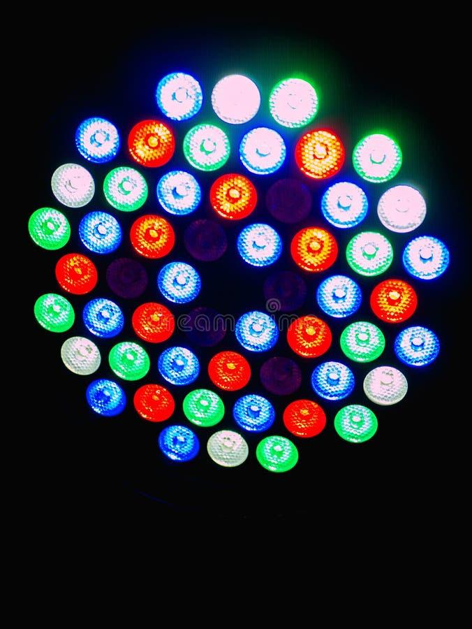 Kleuren heldere lampen stock foto's