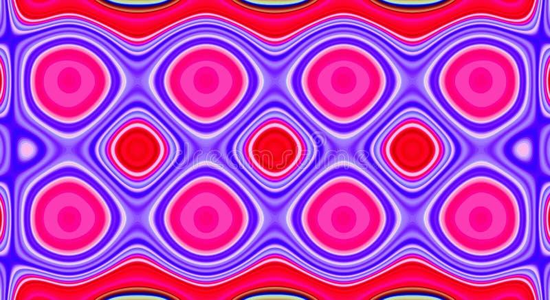 Kleuren het psychedelische symmetrie abstracte patroon en hypnotic achtergrond, artistiek vector illustratie