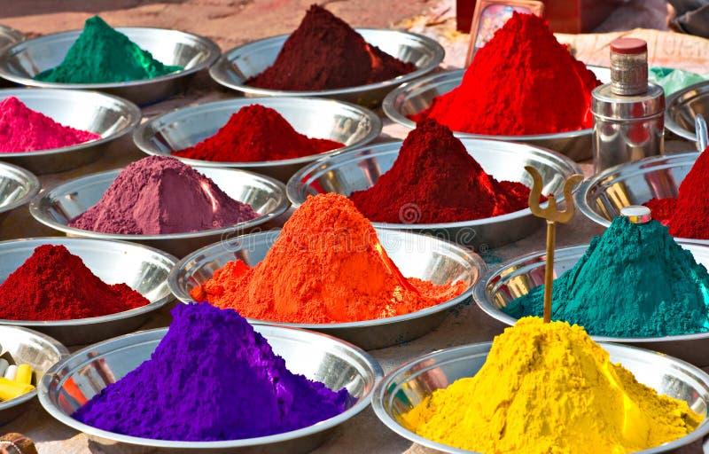 Kleuren, India. royalty-vrije stock afbeeldingen