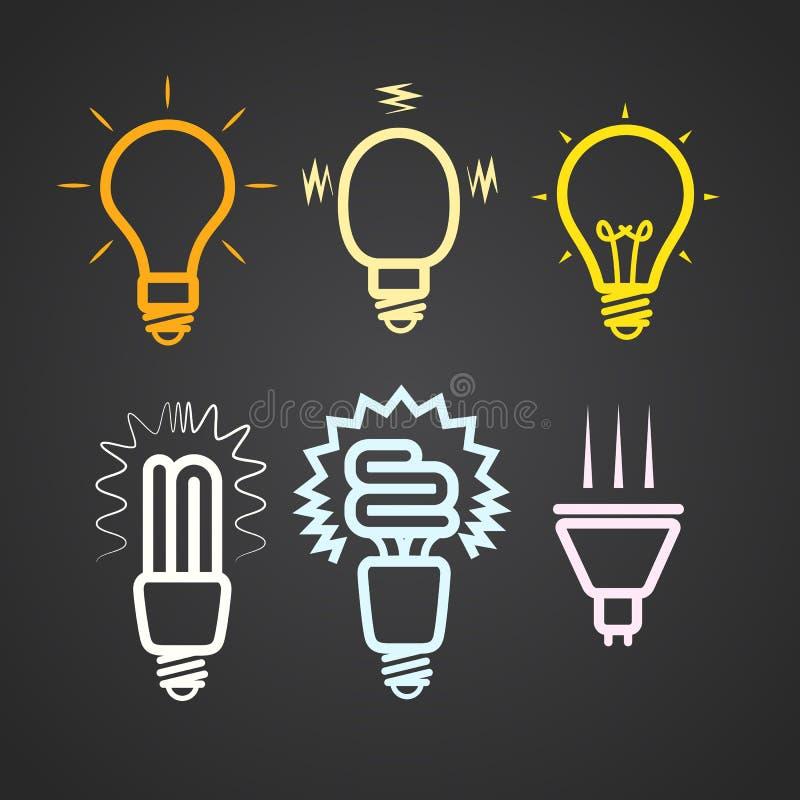 Kleuren lichte lampen vector illustratie